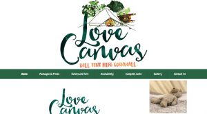 Love Canvas Cornwall Website
